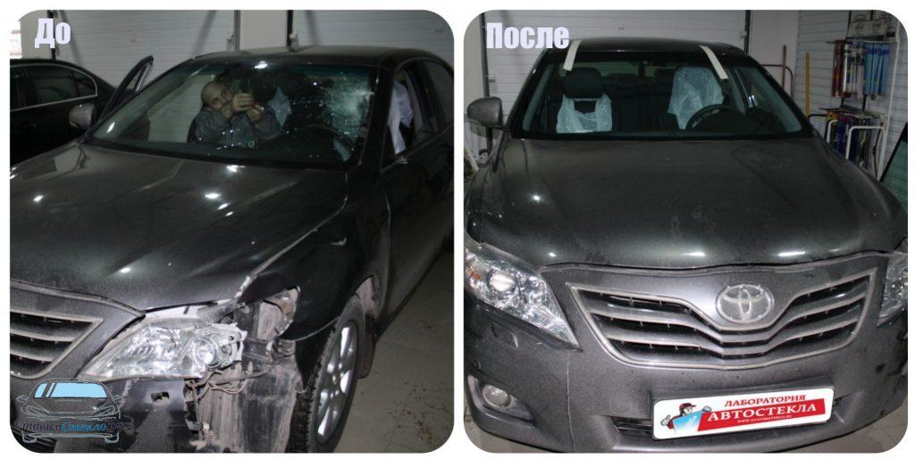 Замена лобового стекла на Toyota Camry VI